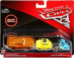 CARS 3 (Auta 3) - Lightning McQueen as Chester Whipplefilter (Blesk) + Luigi + Guido with Cloth