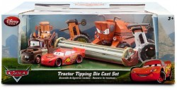 DISNEY PIXAR CARS (Auta) Tractor Tipping Set (kombajn Frank, Tractor...)