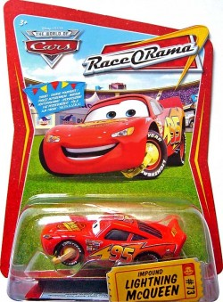 CARS (Auta) - Impound McQueen - Race O Rama (Blesk McQueen s botičkou na kole)