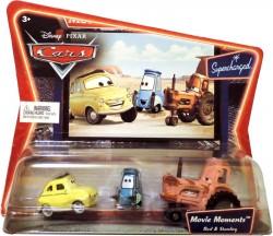 CARS (Auta) - Luigi + Guido + Tractor - SUPERCHARGED - sběratelská rarita