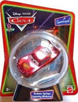 CARS (Auta) - Radiator Springs McQueen (Blesk McQueen) in Snow Globe - poškozený obal