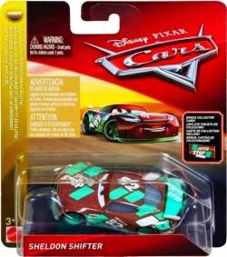 CARS 3 (Auta 3) - Sheldon Shifter Nr. 92 + sběratelská karta na stojánku - poškozený obal