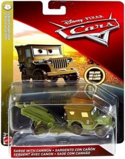 CARS 3 Deluxe (Auta 3) - Sarge with Cannon (Serža s dělem)